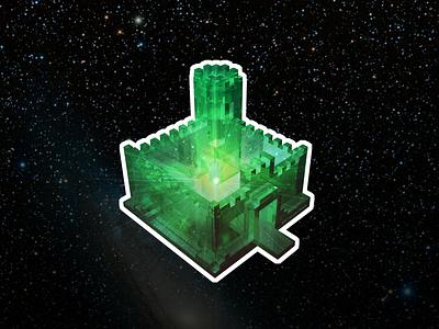 Crystal Cosmos Castle magicavoxel voxel galaxy crystal castle stickermule