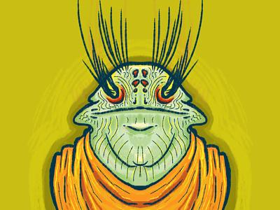 Toad Martian toad alien frog eyebrows martian