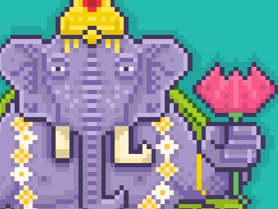 Pixel Ganesha