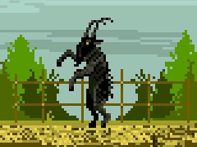 Black Phillip phillip black movie horror goat thewitch witch pixelart