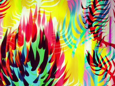 Plant study colour experiments colour plants illustration digital