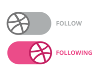 Dribbble Follow Button Concept