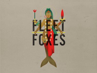 Fleet Foxes Mermaiden symbolism torch occult woman fish mermaid fleet foxes