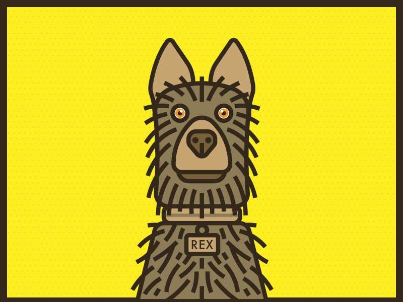 Isle of Dogs Wes Anderson Rex pet isle of dogs wes anderson dog poster