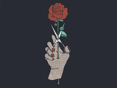 Grow Salon anatomy flower branding fingers hands grow hair shears scissors rose hand