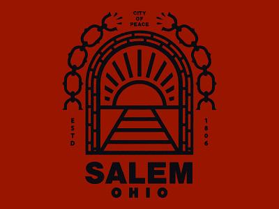 Sticker for Salem, Ohio historical tunnel rail slave emancipation railroad underground slavery abolition ohio salem sticker