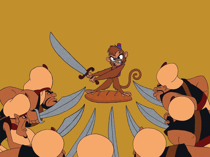 Abu and his Bread Stoicism nights arabian monkey aladdin