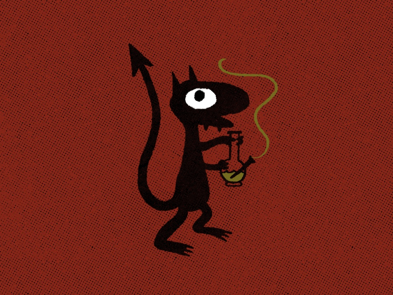 Inktober: Day 7 - Disenchantment stoner bong netflix cute cat demon simpsons groening disenchantment luci