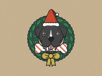 Dog Xmas Wreath