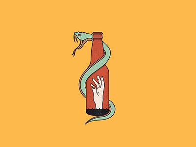 Drink Venom reptile alcohol bottle hand snek snake beer alcholism