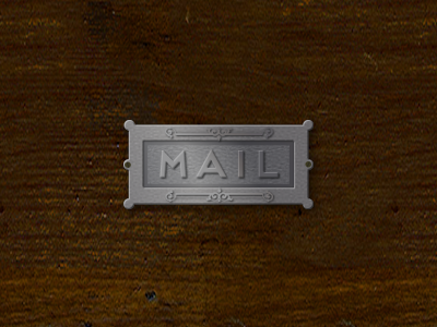 Antique Mail Slot Illustration photoshop illustration web design