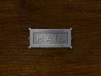 Antique Mail Slot Illustration