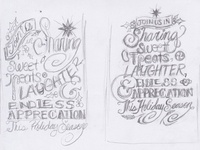 Hand Lettered Holiday Card Sketches