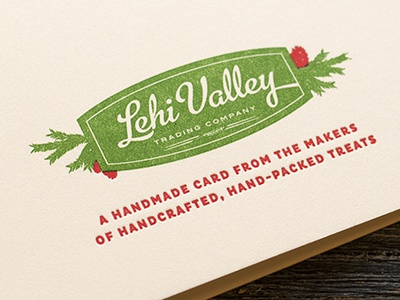Hand Lettered, Letterpress Holiday Card–Back hand lettering holiday card letterpress illustration printing