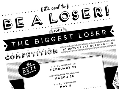 Biggest Loser Competition Poster poster type vintage art deco