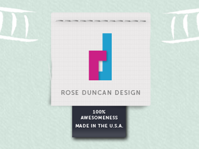 Rose Duncan Design site logo logo tag website stitches portfolio