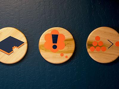 Values Plaques plaque vinyl wood sign icons