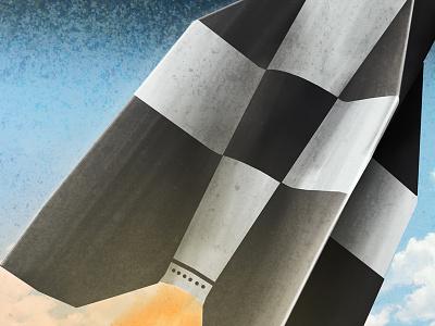 V2 Rocket Preview Illustration v2 rocket illustration digital painting texture shading
