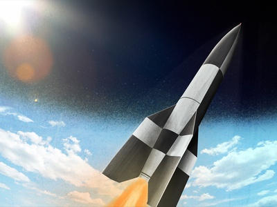 V2 Rocket Complete v2 rocket illustration digital painting texture shading