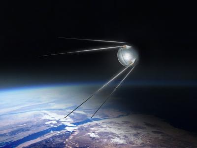 Sputnik Complete sputnik space illustration shading texture digital painting
