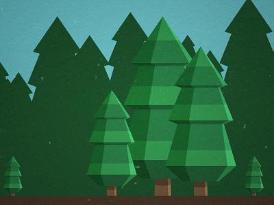 Pine Trees pine trees flat vector