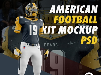 Download American Football Kit Mockup By Tr Design On Dribbble Free Mockups