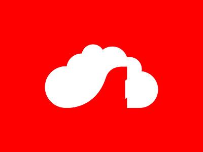 Sara Parvaz ogo and Identity design red travel tour airplane plain cloud flight logo design logo