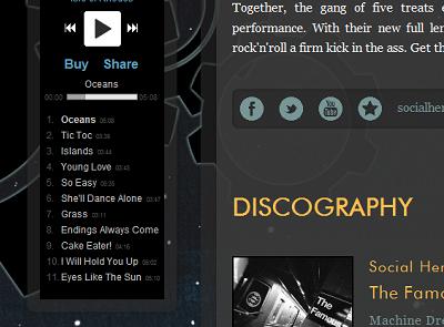 Machine Dream Records  web design