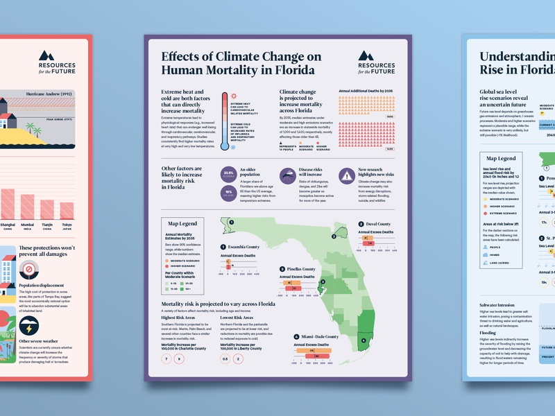 The Florida Climate Outlook - No 5 map mortality death data visualisation data visualization data viz infographic poster editorial research science climate climate change florida