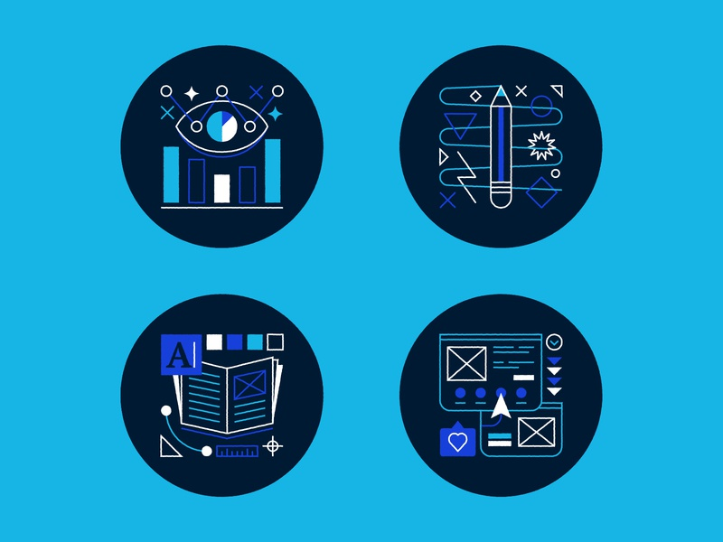 All in a day's work! website editorial print digital illustration data visualization brand branding icon