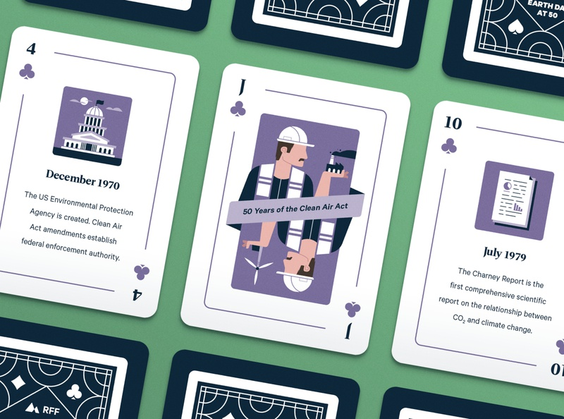 Earth Day Playing Cards conservation renewable energy man energy factory magazine research science environment earth day playing cards