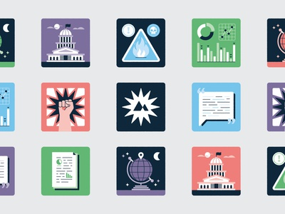 Playing Cards Icons science renewable energy environment print globe policy quote protest statistic warning research icons playing cards