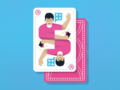 Some card tricks! cards ace game waving hello face card tutorial tips blog dribbble playing cards
