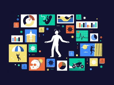 A Risky Puzzle! data viz data coronavirus dangerous danger risk magazine editorial puzzle