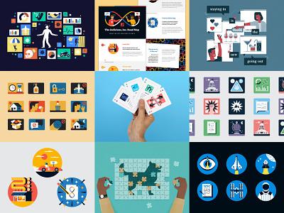 Best Nine 2020! icons playing cards cards instagram 2020 character icon illustration data viz data visualisation data visualization infographic best nine bestnine