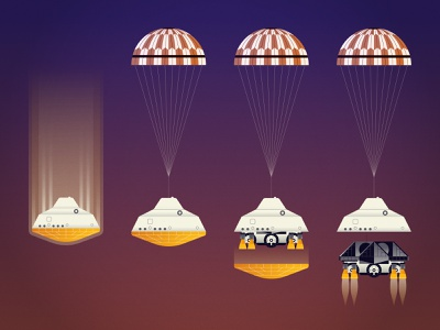 Perseverance Landing! exploration explore planet parachute data visualisation data visualization data viz infographic space editorial science rover mars
