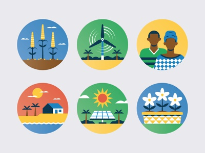 Climate change in The Gambia energy wind solar flower sun renewable energy people research conservation climate nature science environment africa the gambia iconography icon climate change