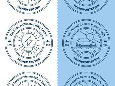 Climate Policy Badges line icon icon badge science environment climate change energy light bulb car magazine editorial stamps badges