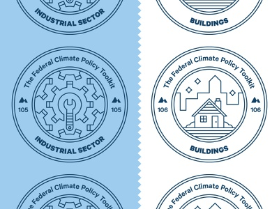 Climate Policy Badges tool city house environment climate change energy editorial magazine line icon icon stamp badge