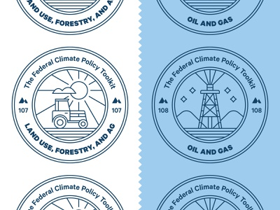 Climate Policy Badges tractor editorial science line icon stamp energy oil farm environment magazine climate change icon badge