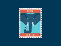 Travel Stamp No. 7 - South Africa