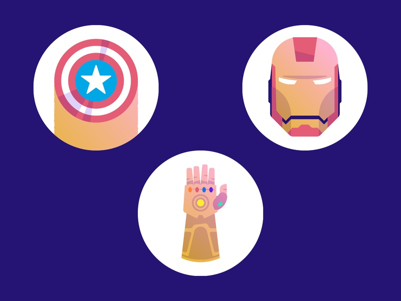 Marvel Icons data viz infographic data visualisation data visualization movies avengers infinity war thanos captain america iron man film marvel