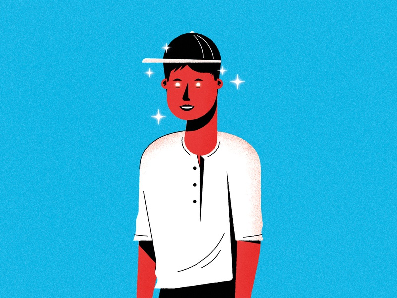 Starry Eyes figure person illustration eyes space stars man