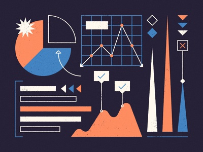 Using data visualization to tell compelling stories... science abstract chart bar chart vintage graph pie chart data visualisation data visualization interview blog dribbble infographic data viz