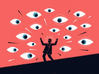 Watch out!! editorial detective look surveillance watching alarm thriller spy man eye eyes