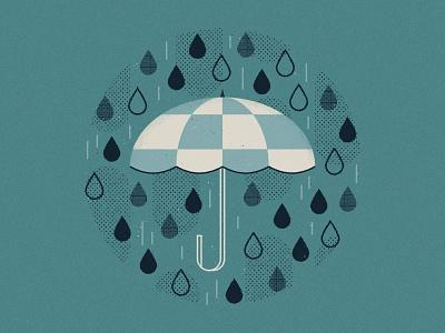 It's raining, it's pouring... wet pattern bad drop water weather umbrella rain