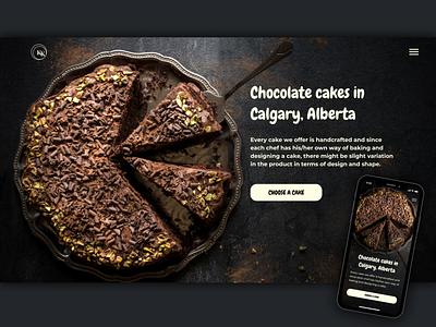 Website for a Chocolate Cake Shop in Calgary, Alberta, Canada chocolate bar ui design mobile mobile design web sweet delicious design website concept website cake
