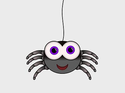 Cute Spider cute art bugs spider vector illustration design
