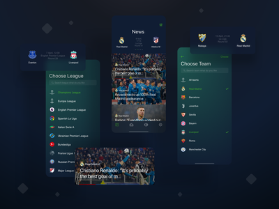 The Football - Mobile App card app design app ios application portfolio soccer app news mobile blur football soccer design interface