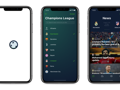 The Football - mobile app gradient interface blur scroll parallax flow invite iphone x football animation ios mobile